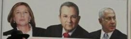 Tzipi Livni, Ehud Barak and Binyamin Netanyahu