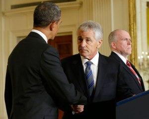 Chuck Hagel with President Obama