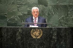 Mahmoud Abbas addresses the UN general Assembly, 9/26/14