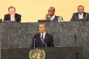 Obama speaking at last year's UNGA