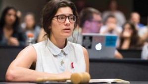 Megan Marzec, who is facing death threats for calling out Israel's slaughter in Gaza