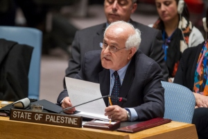Palestinian representative to the UN, Riyad Mansour